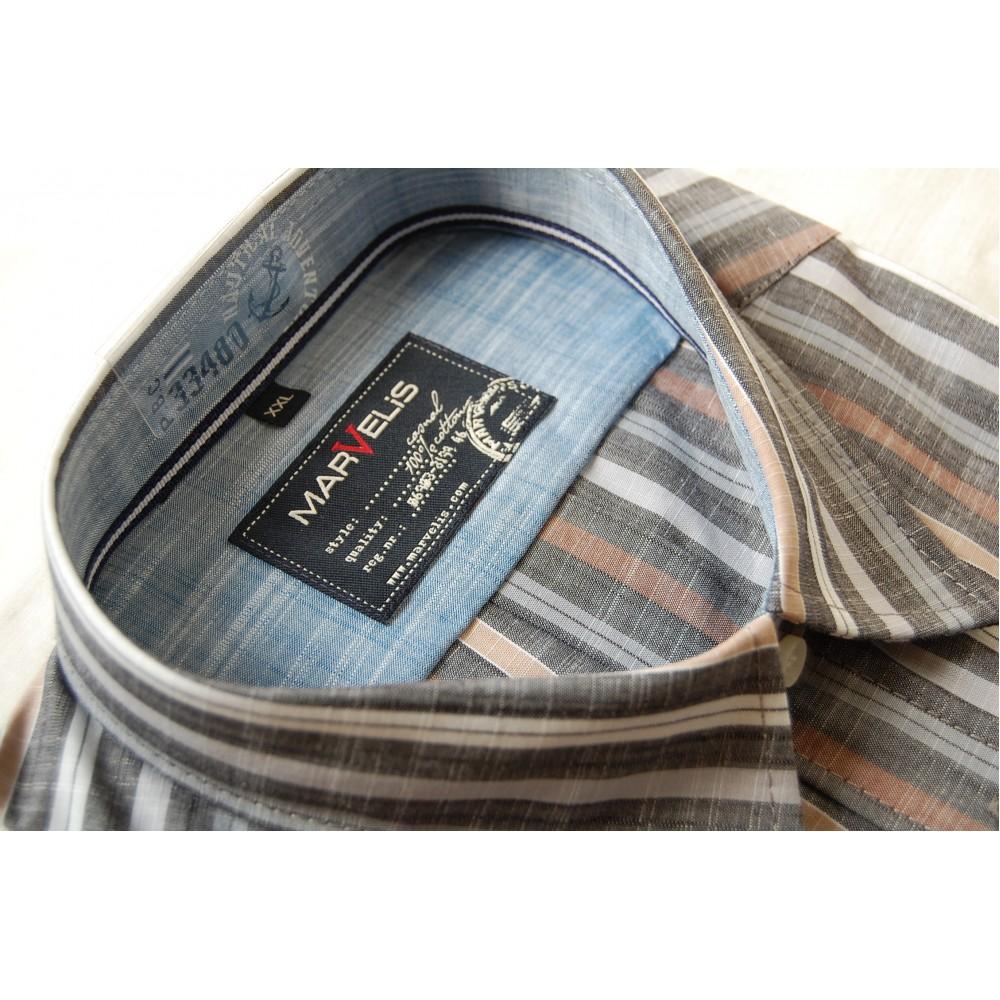 Рубашка Marvelis 3669-12-63 разноцветная в полоску