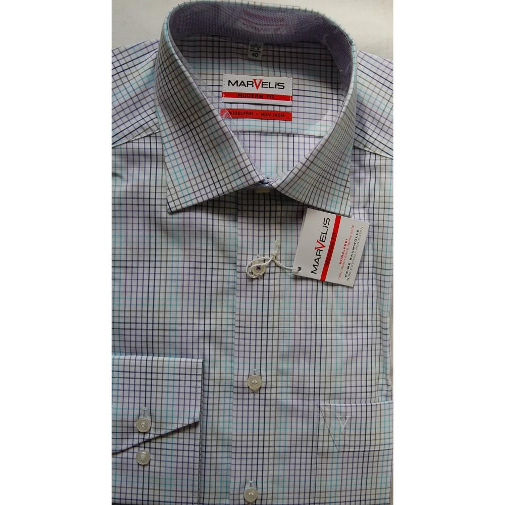 Рубашка Marvelis Modern Fit 3726-64-92 разноцветная в клетку