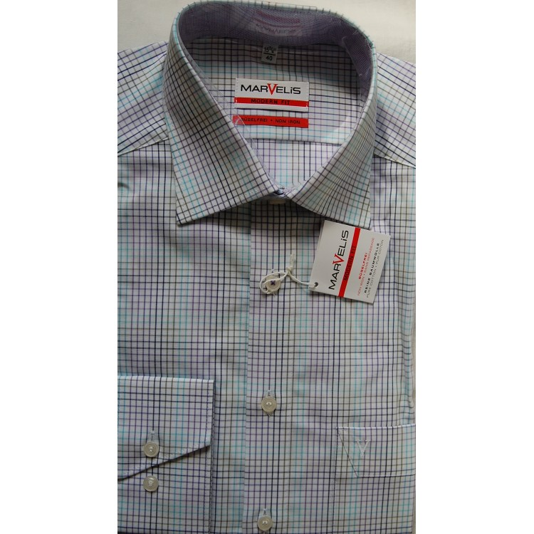 Рубашка Marvelis  Modern Fit 3726-64-92  разноцветная