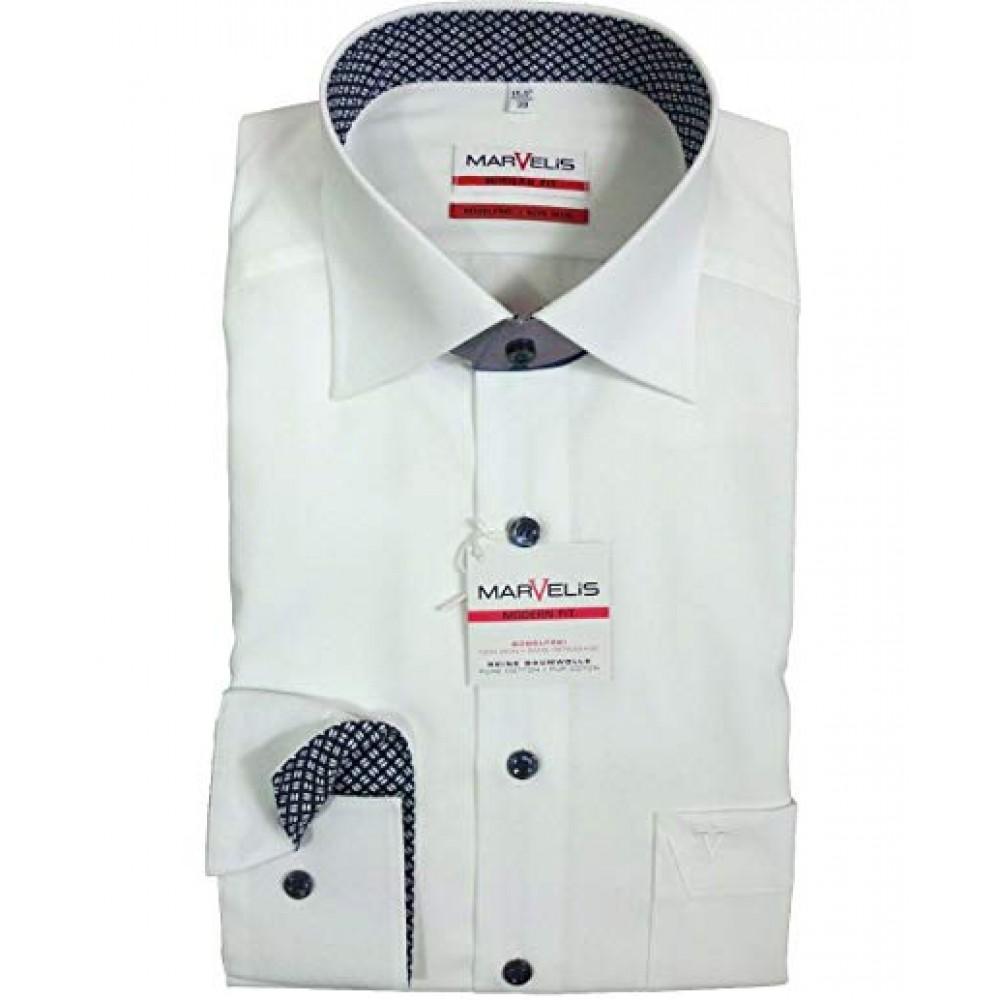 Рубашка мужская Marvelis Modern Fit 3746-64-18 белая
