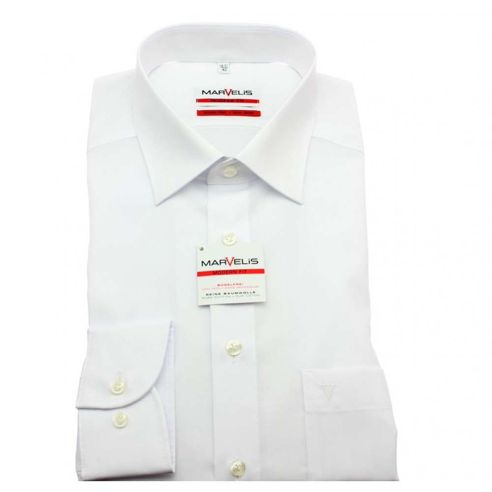 Рубашка мужская Marvelis Modern Fit 4700-64-00 белая