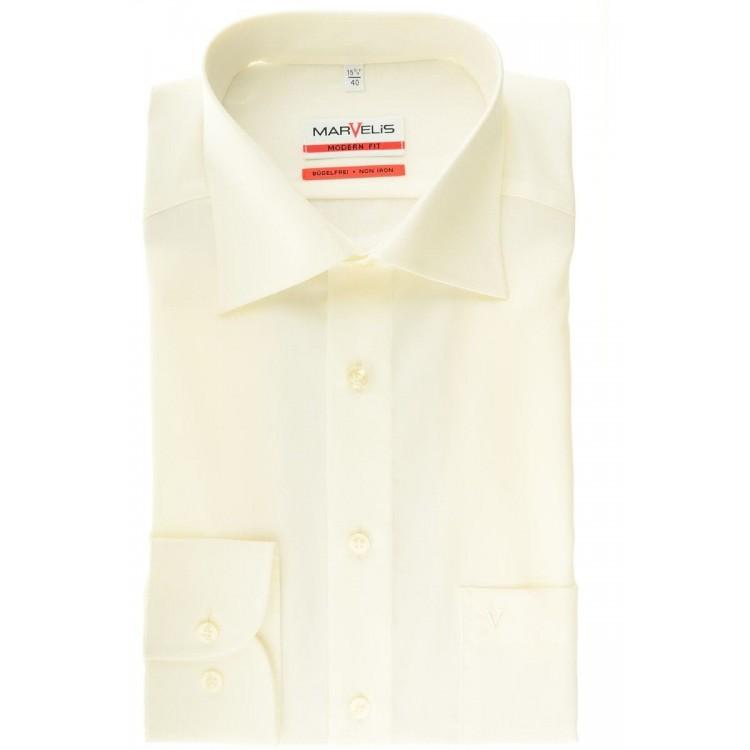 Рубашка Marvelis Mofern Fit 4700-64-20 светло бежевая