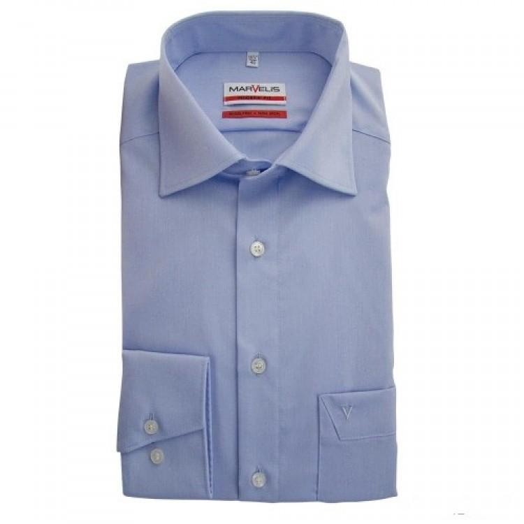 Рубашка Marvelis Mofern Fit 4704-64-11 голубая