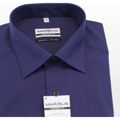 Рубашка Marvelis Comfort Fit 7959-64-83 темно фиолетовая