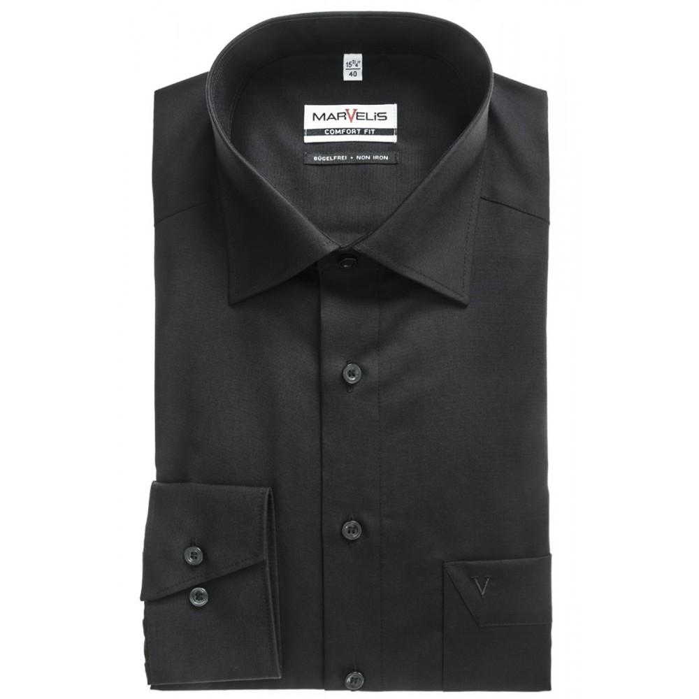 Рубашка мужская Marvelis Comfort fit 7973-64-68 черная