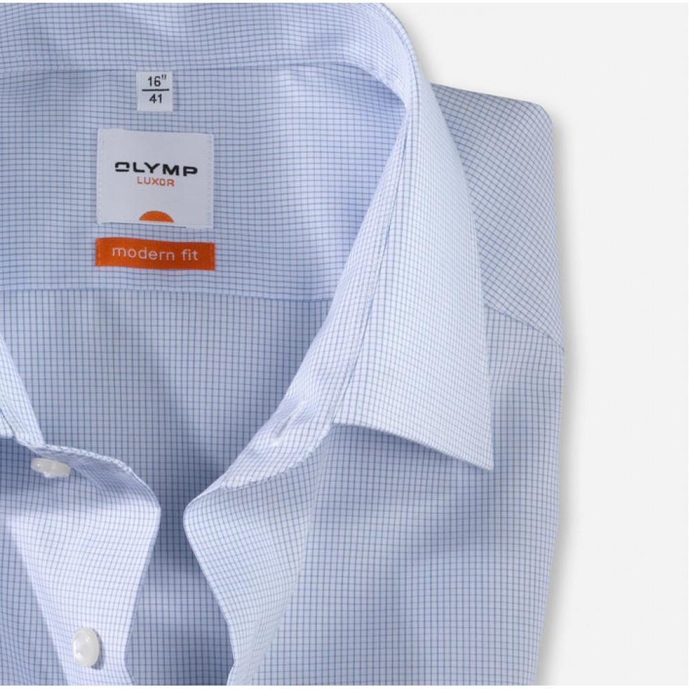 Рубашка Olymp Luxor Modern Fit 0316-12-11 голубая в клетку