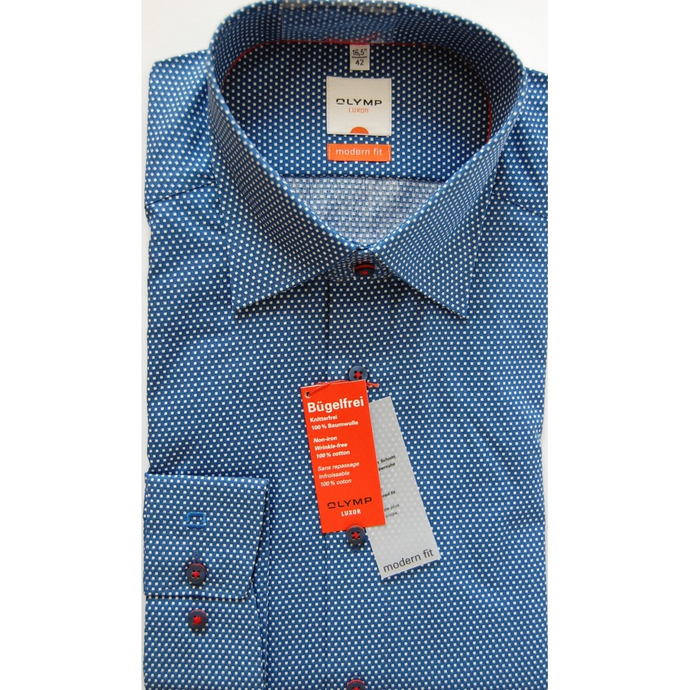 Рубашка мужская Olymp Luxor Modern Fit 1324-64-19 синяя