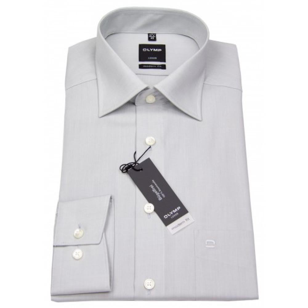Рубашка Olymp Luxor Modern Fit 0304-64-63 светло серая