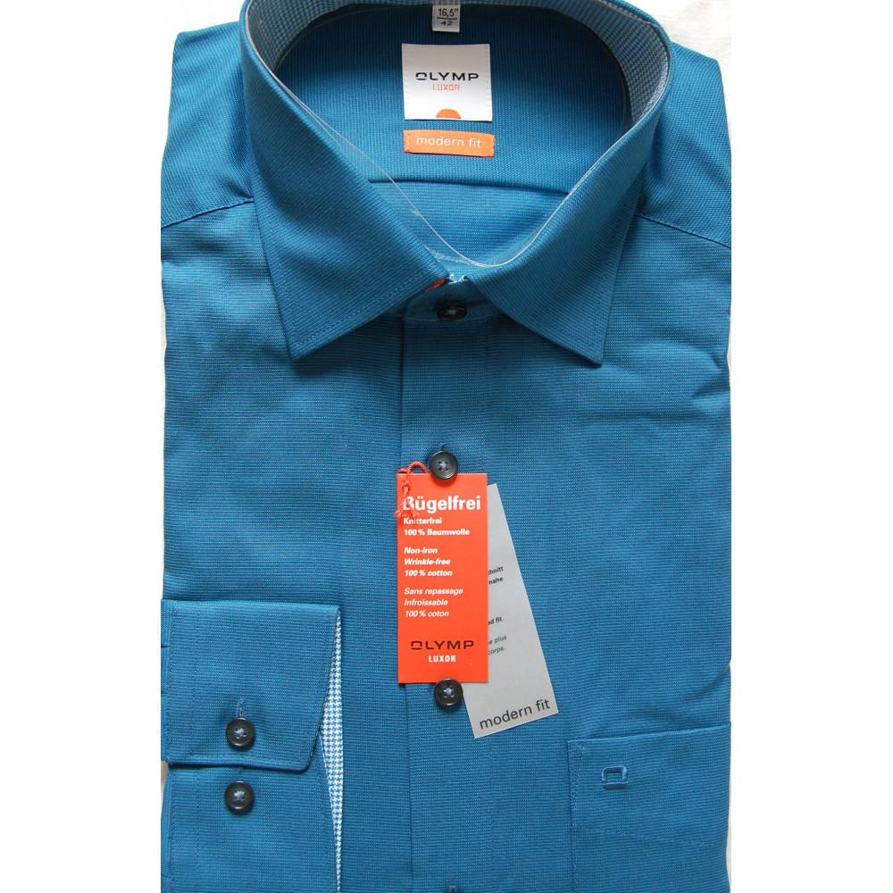 Рубашка мужская Olymp Luxor  Modern Fit 2319-64-16 бирюзовая