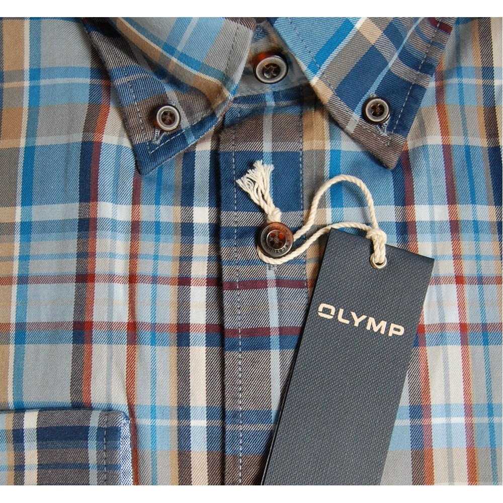 Рубашка Olymp 2457-64-18 разноцветная в клетку