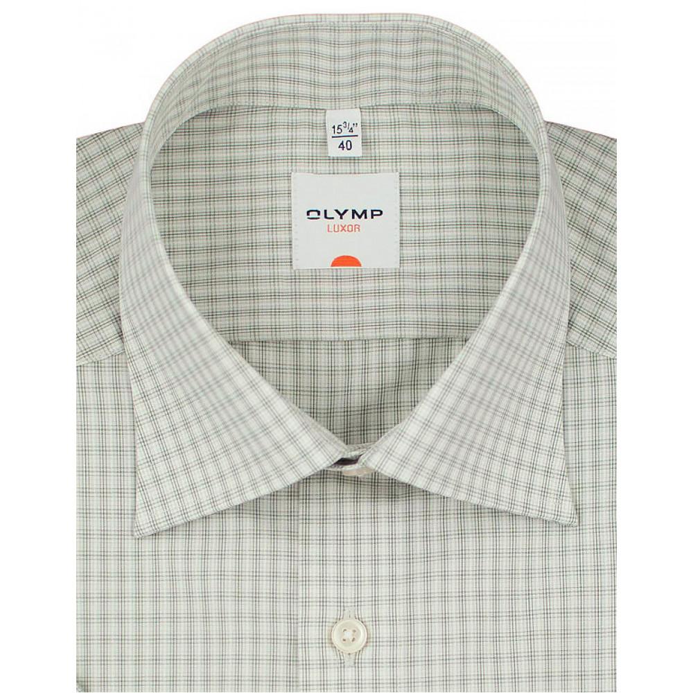Рубашка Olymp Luxor Modern Fit 3346-12-26 светло зеленая в клетку