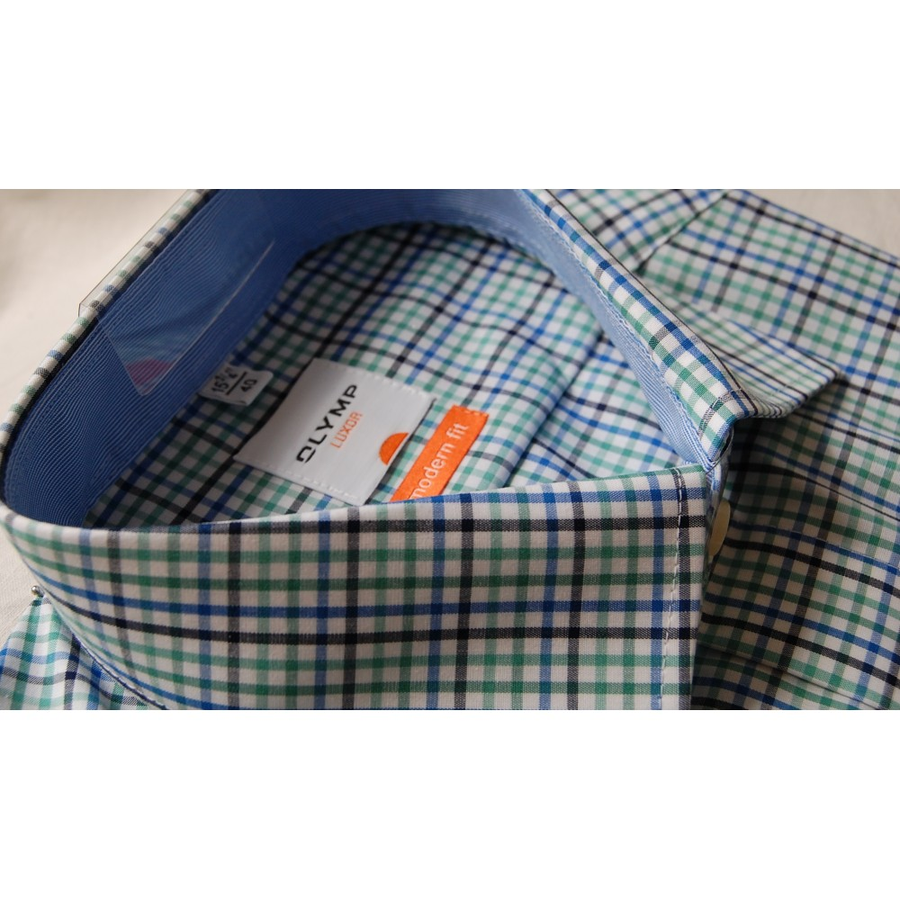 Рубашка Olymp Luxor Modern Fit 3356-12-19 разноцветная в клетку