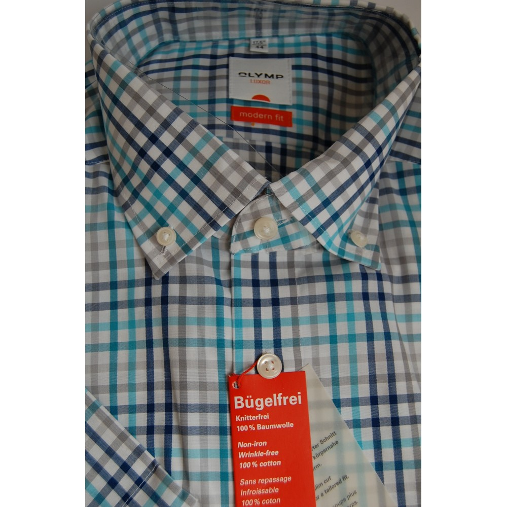 Рубашка Olymp Luxor Modern Fit 3393-12-43 разноцветная в клетку