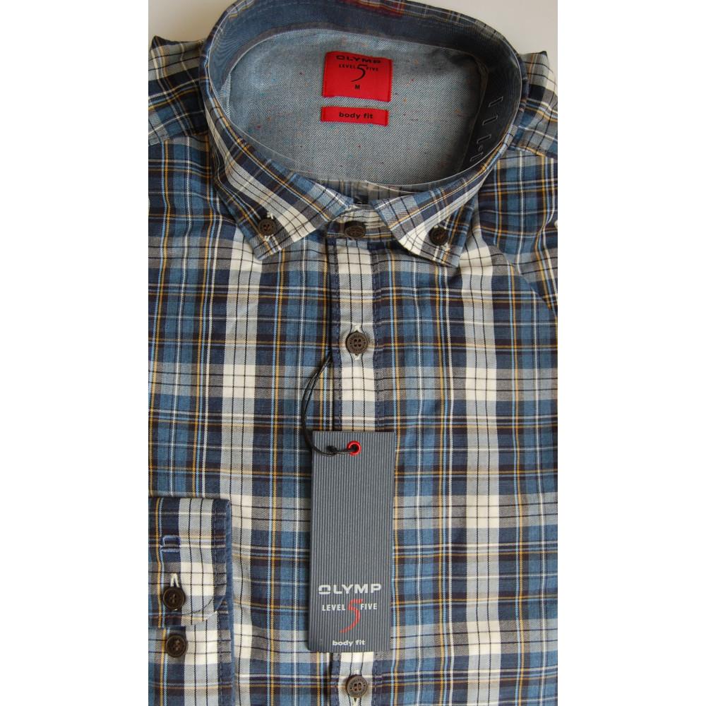 Рубашка мужская Olymp Level Five Body Fit 4284-64-18 разноцветная