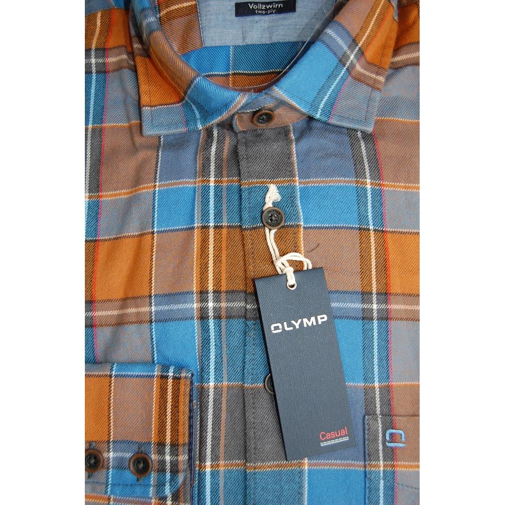 Рубашка Olymp  4484-64-24 разноцветная в клетку