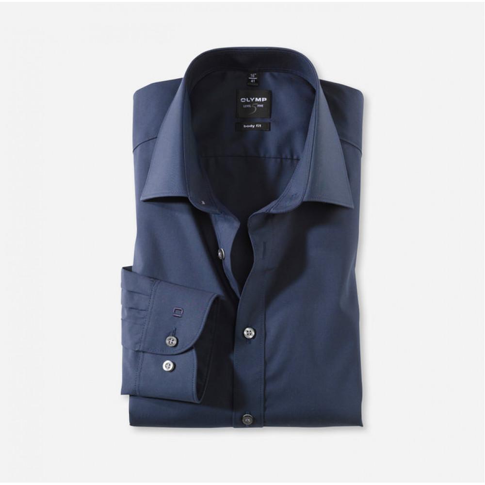 Рубашка мужская Olymp Level Five Body Fit 6090-64-18 темно синяя